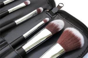 Brushes in holder