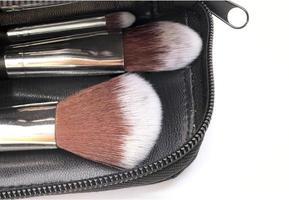 Close-up of makeup brushes