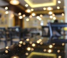 Blurry restaurant with lights