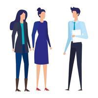 personajes de avatares de trabajadores de gente de negocios elegante
