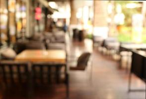 Blurred outdoor dining background