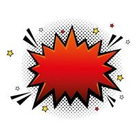 explosion red color pop art style icon