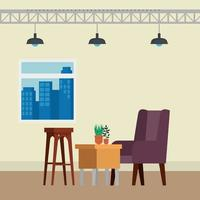 livingroom home place with sofa scene