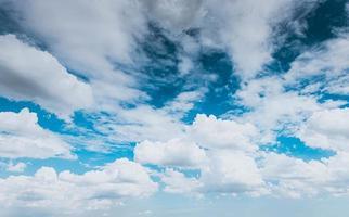Beautiful blue sky background photo