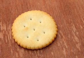 Cracker on wood photo