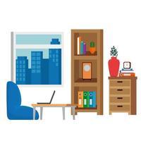 escena del lugar de la sala de estar del hogar vector