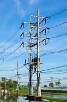torre de alta tensión en tailandia