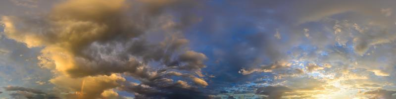 Golden hour through clouds photo