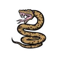 Aggressive Okinawa Habu Snake Mascot vector