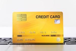 primer plano de la tarjeta de crédito