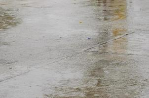 Rainy wet pavement