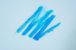 Blue painted zig zag