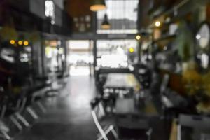 Blurred cafe or restaurant scene for background