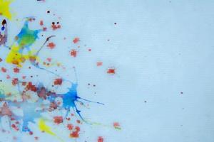 Colorful splatter paint