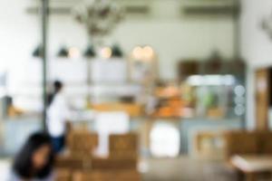 Blurred cafe or restaurant scene for background photo