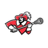 Musketeer Lacrosse Mascot vector