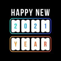 happy new year with 2021 scoreboard. concept of flipboard numerical, celebrate 2021 calendar template. flat style trend modern design vector illustration.