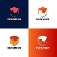 rhino shield security logo template vector icon illustration