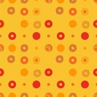 Abstract background seamless vector pattern made with circular geometric shapes or dots with line. Colorful, playful, trendy and modern vector art