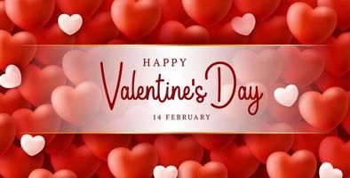 Fondo de venta de día de San Valentín feliz y seguro con patrón de corazón de globos. Ilustración de vector de concepto de coronavirus loce y covid. papel pintado, volantes, invitación, carteles, folleto, pancartas