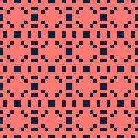 Abstract red and blue pixels squares textured background. Seamless vector pattern.