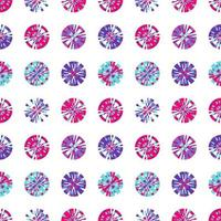 Creative Digital pixels in circle form vector seamless pattern. tiny squares in round shape. vector digital background design element