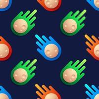 colorido de fondo de patrón de forma de meteorito de bola. Colorido de fondo de patrón de forma de meteorito de bola, vector de ilustración