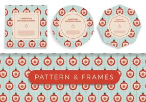 Christmas covid Seamless pattern and frame set vector illustration. Virus protection and Merry Christmas concept. Vector of New Year 2021 and Coronavirus Covid-19 during pandemic