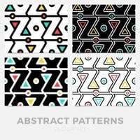 Collection of striped seamless geometric patterns. Digital design. vector