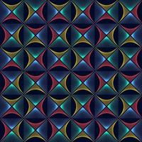 Abstract colorful rhombus wave lines background texture in geometric ornamental style. Seamless design vector