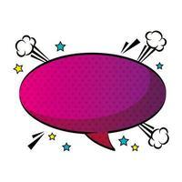 speech bubble pop art style vector