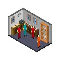 Isometric Bakery Shop vector
