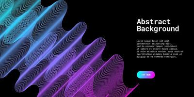 Modern abstract background with wavy lines in blue and purple vector
