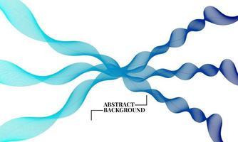 vector de fondo abstracto con ondas dinámicas degradado azul
