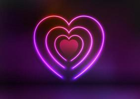 Neon Valentines Day background vector