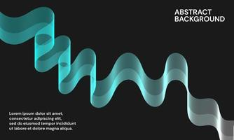 fondo abstracto moderno con líneas onduladas vector