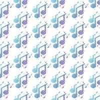 Tone music notes pattern design