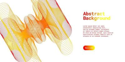Abstract background with dynamic red and yellow vector