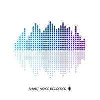 Smart audio wave equalizer design vector on white background