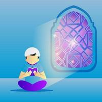 ilustración ramadán actividad joven diseño vector