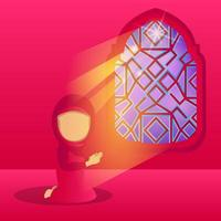 Ilustración de diseño de niña rezando vector