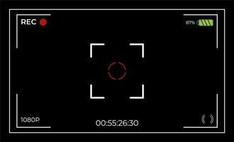 interfaz de usuario del buscador de vista de cámara vector