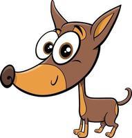 rattler or rattler purebred dog cartoon animal character vector