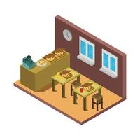 Isometric Restaurant Indoors