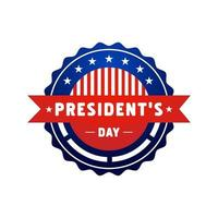 President's day label badge design vector isolated on white background