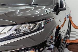 Polished gray car photo