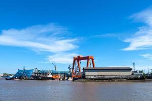 mantenimiento de un gran buque de carga
