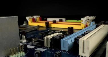 viejos componentes de pcb de la placa base de la pc