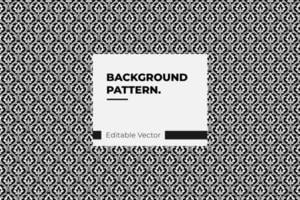 Floral damask black and white pattern