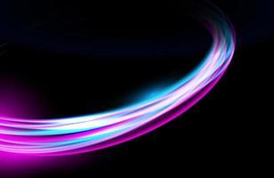 estelas de luz de colores redondos con efecto de desenfoque de movimiento vector
